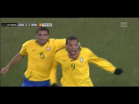 Luís Fabiano 2-2 - USA v Brazil - Confederations Cup Final 2009