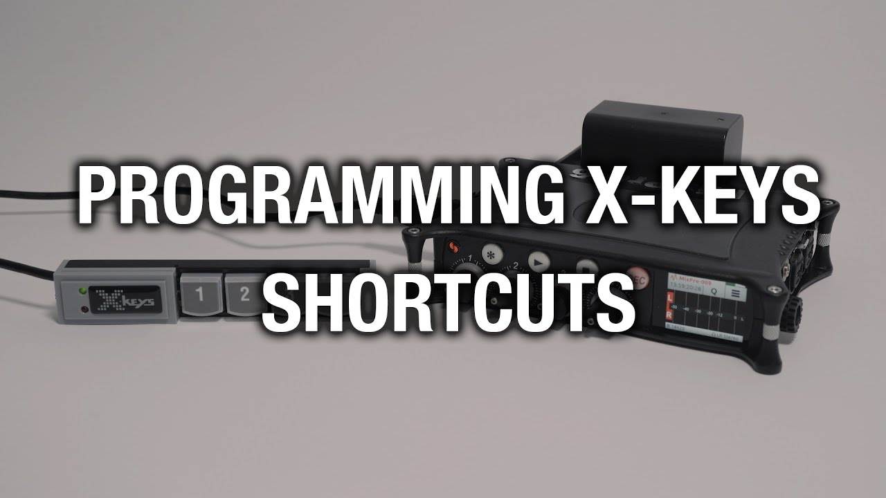 Programming X-Keys Shortcuts for MixPre and 8-Series