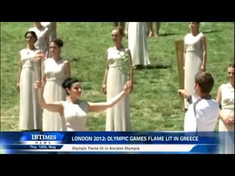London 2012: Olympic Games flame lit in Greece
