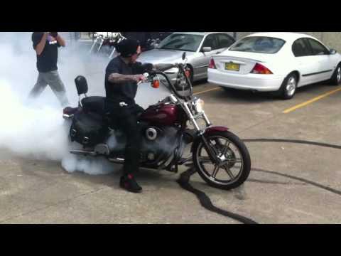 Seth enslow Harley Davidson burnout