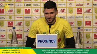 VIDEO: LIVE I Conférence d'avant match : FCN - OL