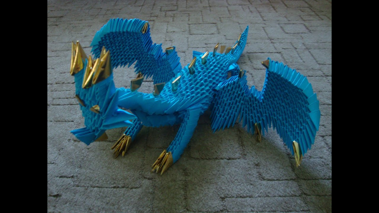 3D origami dragon tutorial (part 1) - YouTube - photo#40