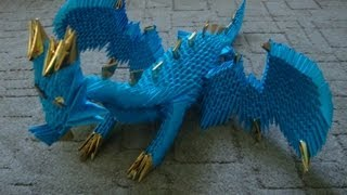 3d Origami Dragon Tutorial (part 1)