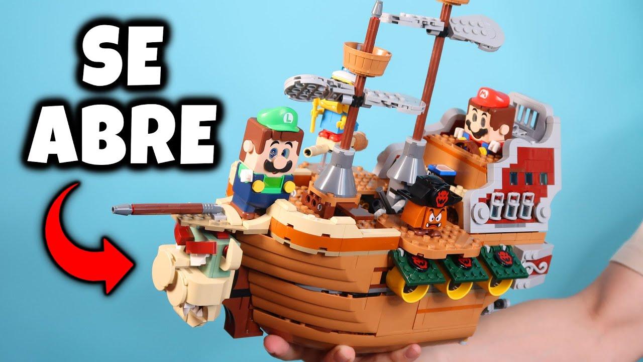 ¿QUÉ HAY DENTRO? 😱 EL INCREÍBLE BARCO DE BOWSER de LEGO Super Mario