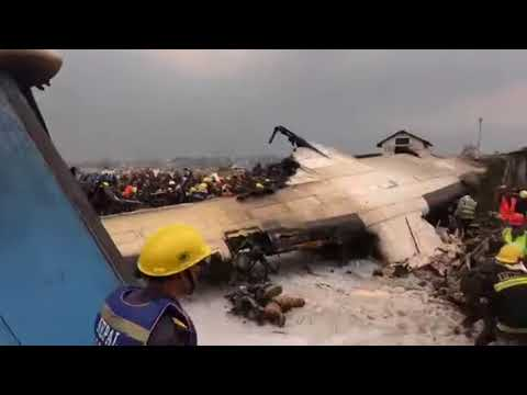 Plan crash in tribhuwan airport 12/03/2018