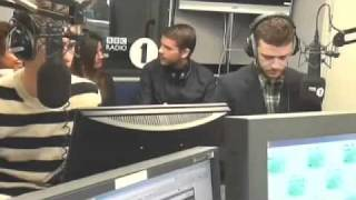 Justin Timberlake and Andrew Garfield talk The Social Network with Greg James