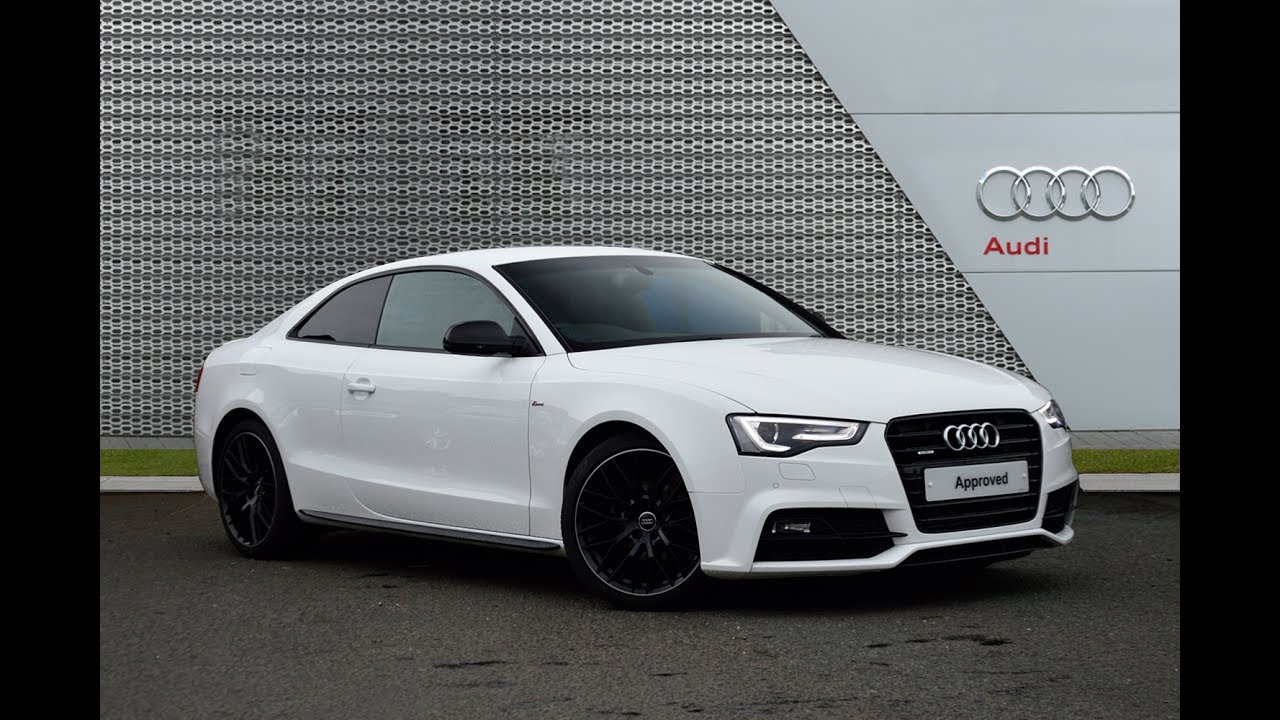 AUDI A5 TDI QUATTRO S LINE BLACK EDITION PLUS WHITE 2015