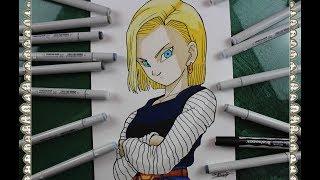 Cómo Dibujar al Androide C 18 人造人間18号 How To Draw Dragon Ball Z Speed Drawing   CarlosNaranjoTV