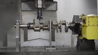 Great way to crankshaft machining with CNC machine. Excellent CNC factory machine performance