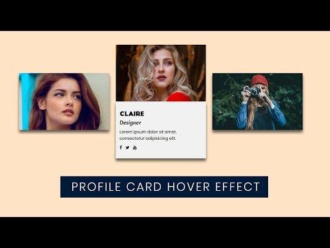 Flexbox Profile card hover Effect   CSS Flexbox Tutorial thumbnail