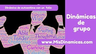 Dinámica de autoestima con un folio #risoterapia #dinamicas #teambuilding