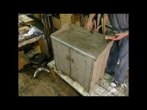 Antique Dry Sink Reproduction - Distressed Paint Finishing
