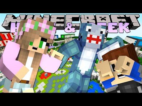 Minecraft Little Kelly : HIDE & SEEK - W/ SHARKY & SCUBA STEVE