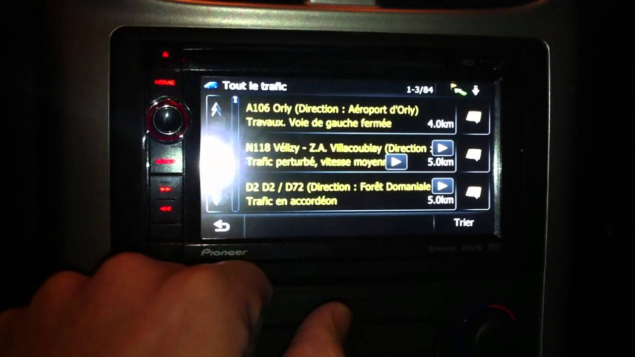 Goede Pioneer AVIC-F930BT Double Din tmc - infotraffic - YouTube FM-24