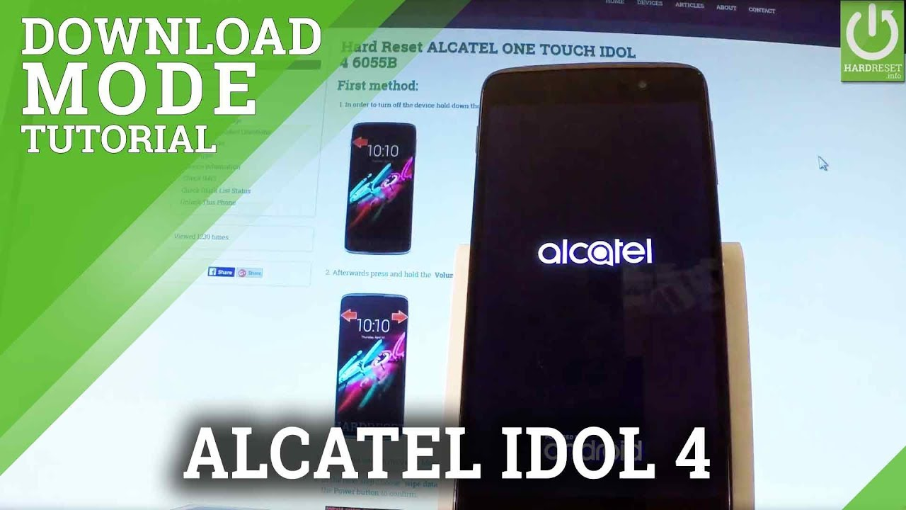 Download Mode in ALCATEL ONE TOUCH IDOL 4 - Enter / Quit Download