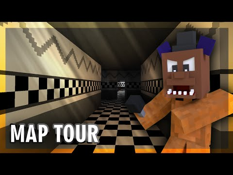 "Five Nights At Freddy's 3 Map Tour ""MINECRAFT HORROR GAME"""