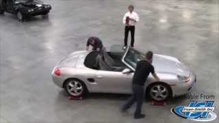 2000 Porsche Boxster on Heavy Duty Auto Dollies