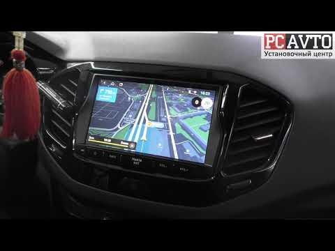 Яндекс.Навигатор в LADA VESTA. Штатная Android-магнитола и камера заднего вида