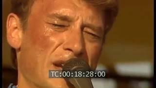 Johnny Hallyday fete de l'Huma 1985