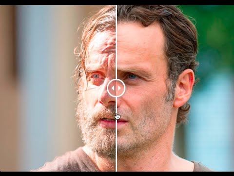 rick grimes the beard before and after shave youtube. Black Bedroom Furniture Sets. Home Design Ideas