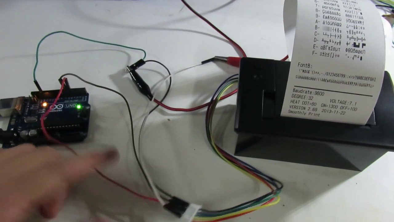 Embeddable Serial Thermal Printer - arduino by Chow He