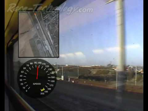 Eurostar train Calais - GPS speed and Google Map overlay