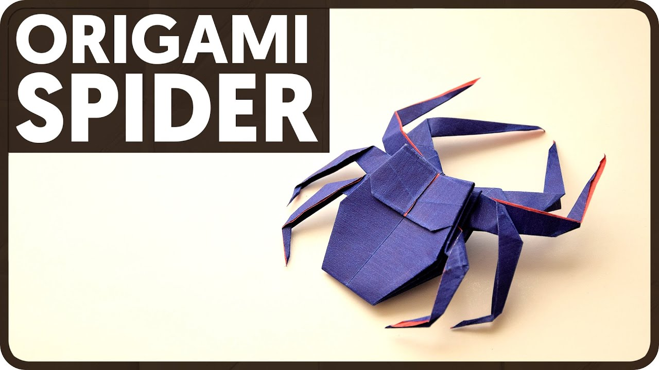 how to make an origami spider
