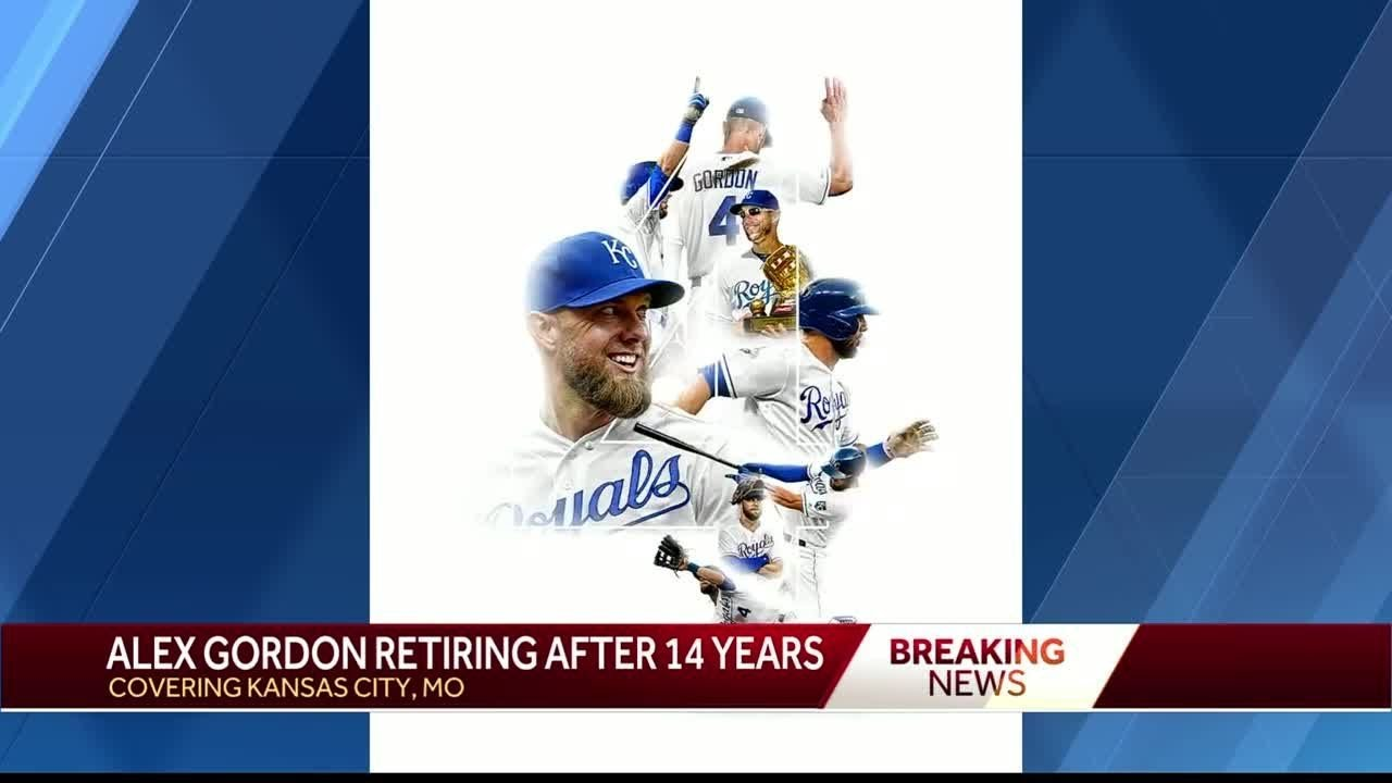 Kansas City Royals OF Alex Gordon retiring at season's end after 14 ...