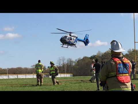 Mock crash demonstration at Apponequet Regional High School in Lakeville