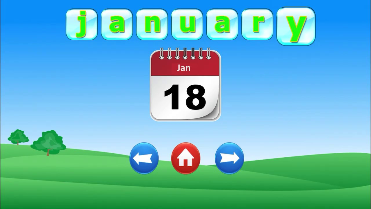 Download Learn months in English/ English vocabulary/Months of the year with spellings/Learn English