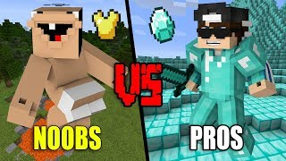 Extremly STUPID Noobs VS. EPIC Pros - Minecraft thumbnail