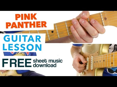 ► How To Play | Pink Panther Theme | Guitar Lesson - FREE Sheet Music