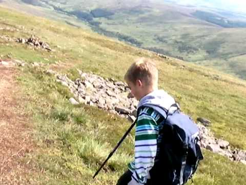 Lewis aged 11 yrs commentary on walking the Cheviot.