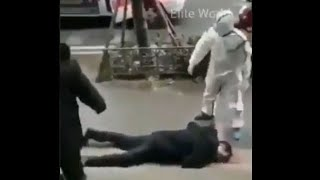 CAUGHT ON CAMERA: Infected people fall down on streets due to virus?