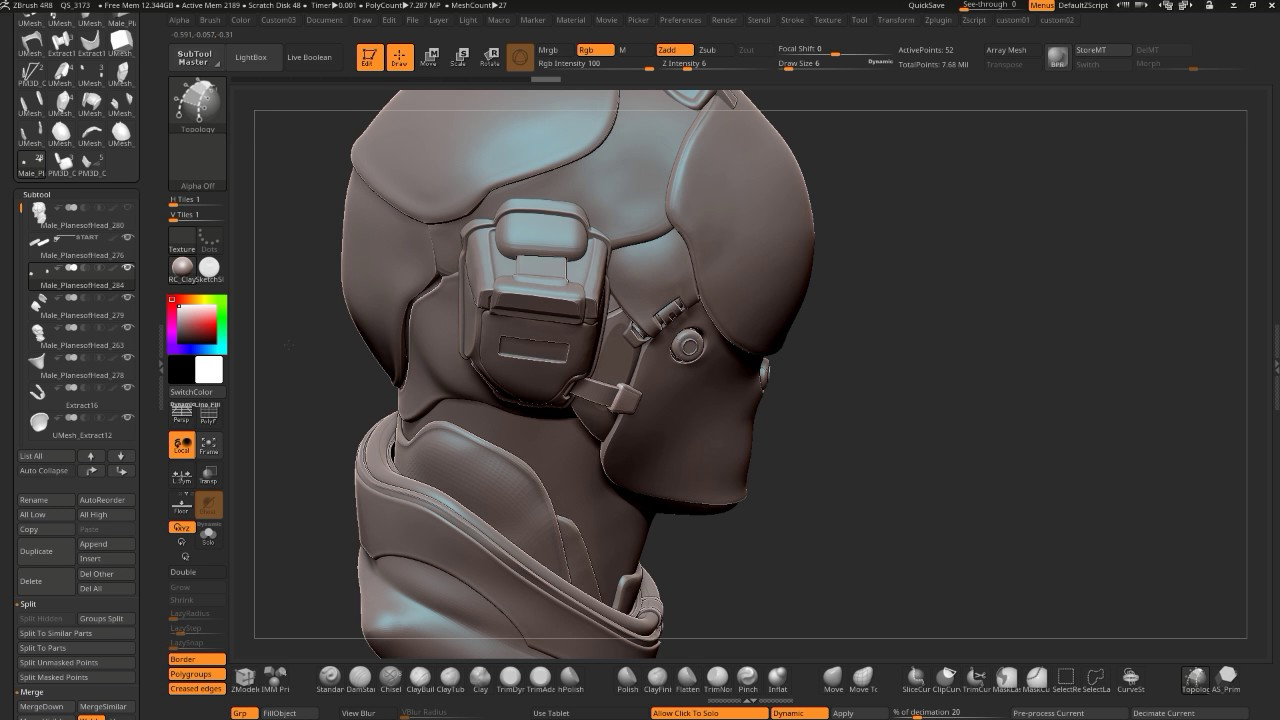 Zbrush 4R8 Hardsurface Detailing + Tips and Tricks Stream - YouTube