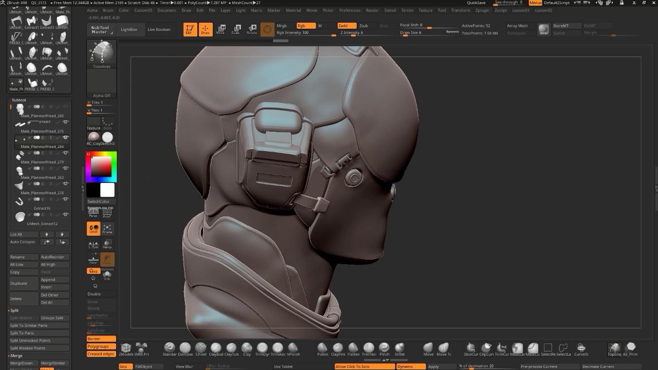 Zbrush 4R8 Hardsurface Detailing + Tips and Tricks Stream - YouTube