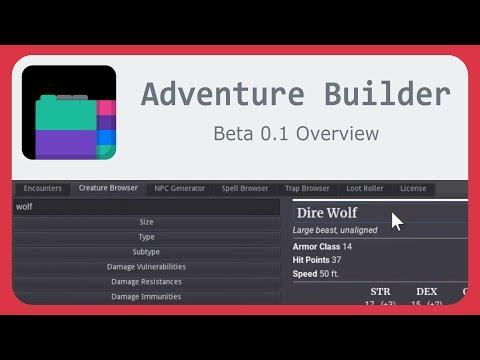 Adventure Builder Beta 0.1 Overview