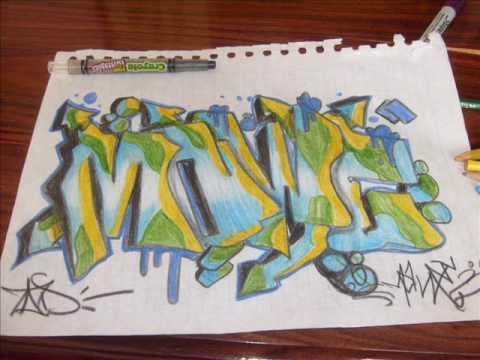 bocetos de graffitis de mawe