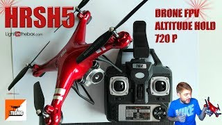 HR SH5 , Fpv 720p altitude hold Review y test selfie drone español
