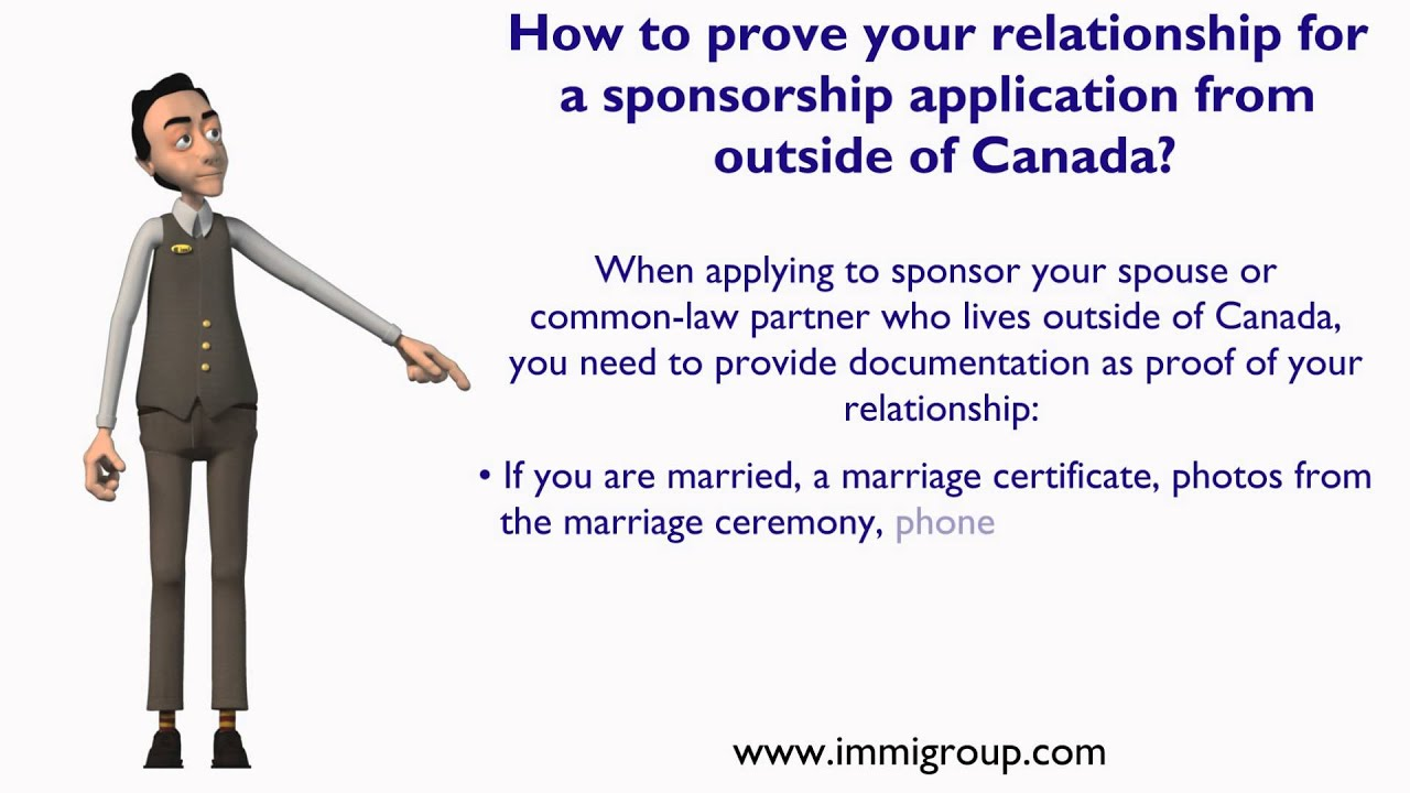 proof of relationship in canada