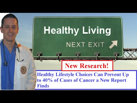 Healthy Lifestyle Choices Can Prevent Up to 40% of Cases of Cancer a New Report Finds