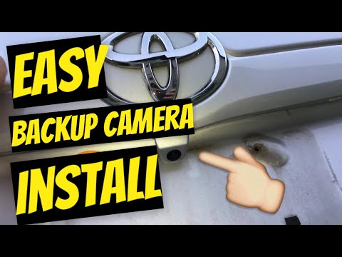 How to install a backup camera any Toyota Camry 2009