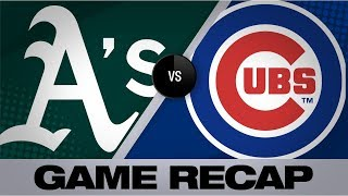 Happ, Baez power Cubs to 6-5 victory | A's-Cubs Game Highlights 8/5/19