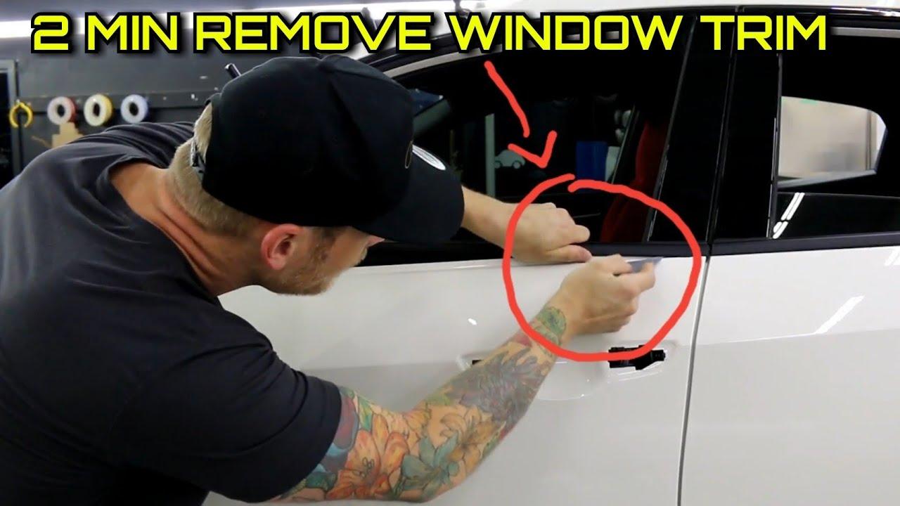 2 Minutes How To Remove Window Trim Honda Civic Type R 2018 Youtube