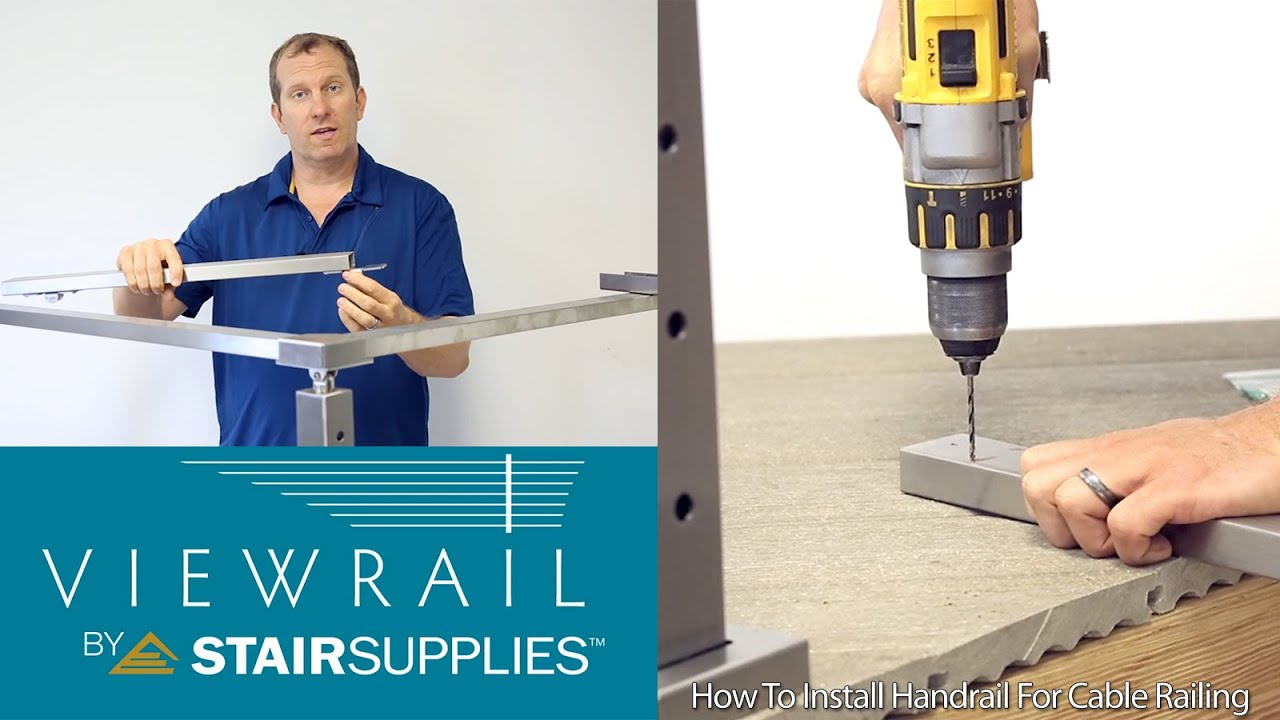 How To Install Handrail For Cable Railing System   Stair Supplies