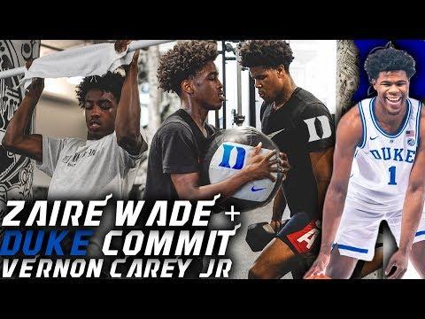Zaire Wade DUKE Commit Workout w/ Vernon Carey! Increasing