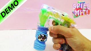 SEIFENBLASE PISTOLE MIT LICHTSTRAHL! Leuchtende Seifenblasen schießen- Kaans Lieblingsspielzeug!