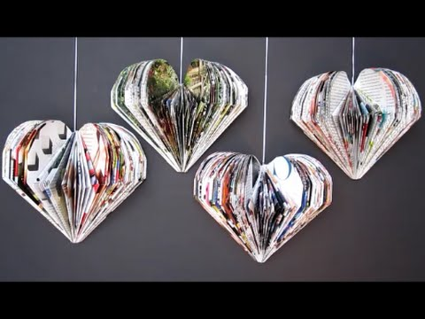 Diy valentine 39 s day room decor ideas recycle magazine 3d for Art and craft ideas for decoration