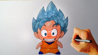 """CHIBI"" GOKU SSGSS✎ Dragon Ball ✎ HOW TO DRAW"