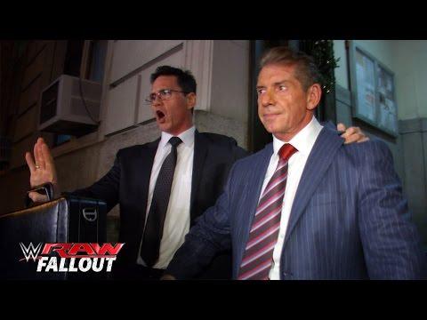 Mr. McMahon Wird Aus Dem Gefängnis Entlassen: Raw Fallout – 28. Dezember 2015